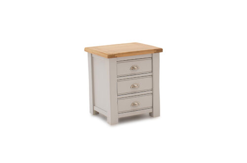Amberly Night Table 3 Drawer Angle