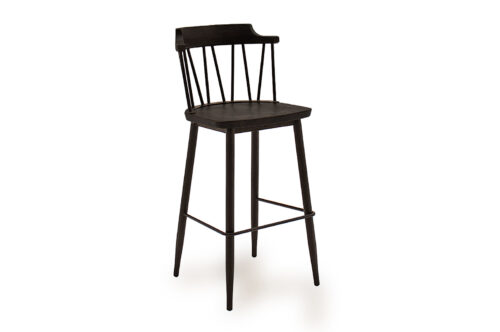 Blake Bar Chair Black Angled