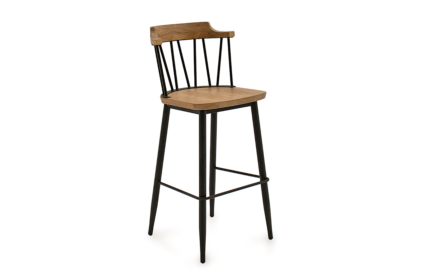 Blake Bar Chair Natural Angled
