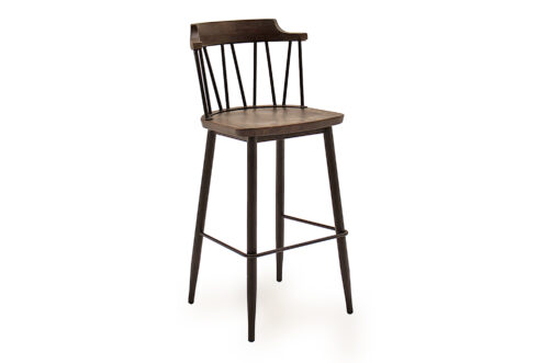 Blake Bar Chair Rustic Angled