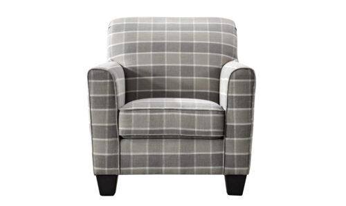 Braemar Accent Chair Beige Check - Straight