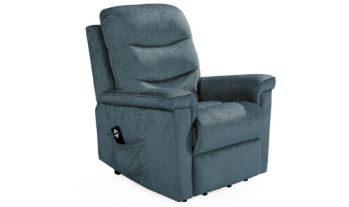 Glencoe Electric Recliner Charcoal - Angle
