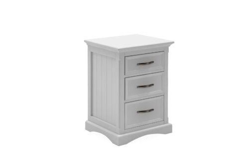 Harlow Bedside Table White Angled