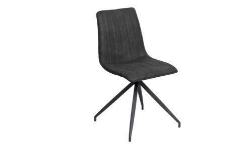 Isaac Dining Chair Charcoal PU - Angle