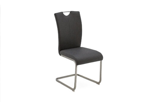 Isaac Dining Chair Charcoal PU - Back