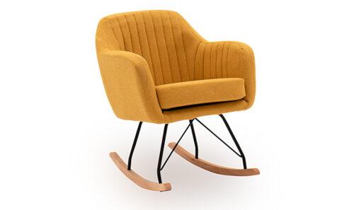 Katell Rocking Chair Mustard - Angle