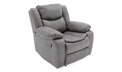 Merryn 1 Seater Recliner Grey - Angled