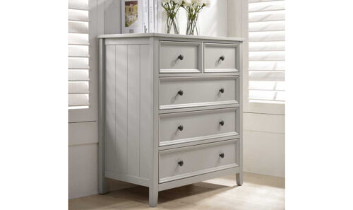 Mila Tall Chest - 3+2 Drawer - Taupe