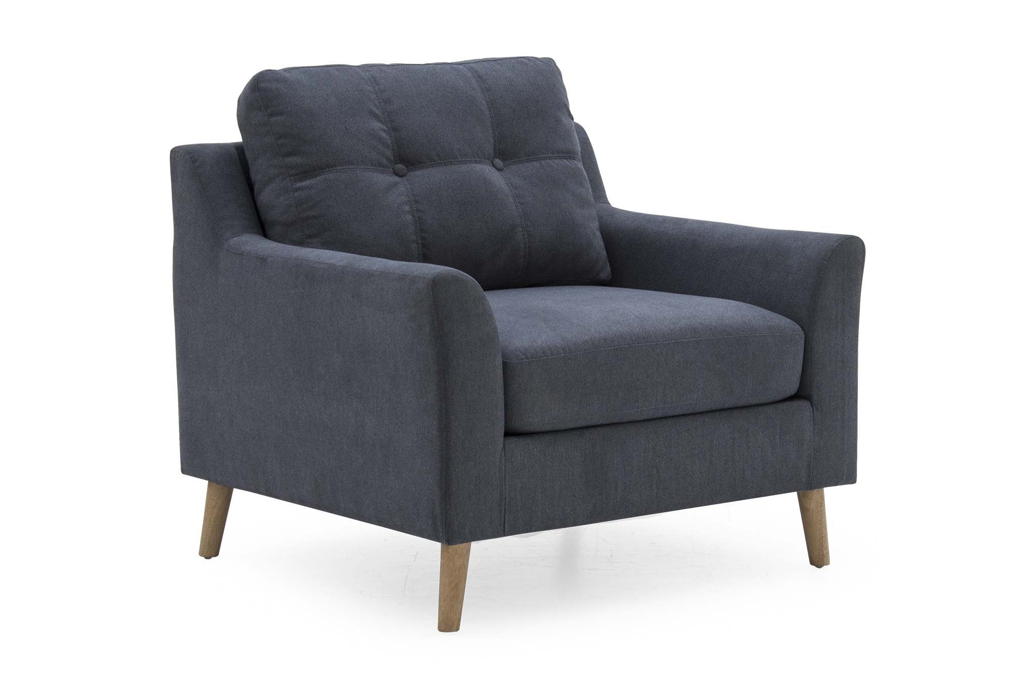 Olten 1 Seater Charcoal - Angle
