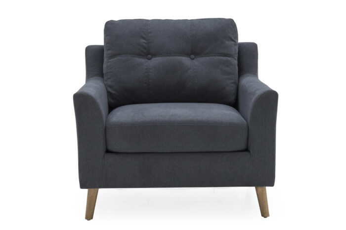 Olten 1 Seater Charcoal - Straight