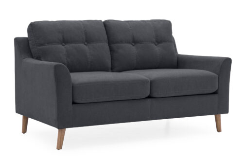 Olten 2 Seater Charcoal - Angle