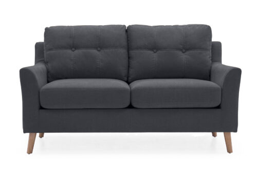 Olten 2 Seater Charcoal - Straight