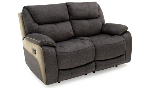 Santiago 2 Seater Recliner Grey - Angle