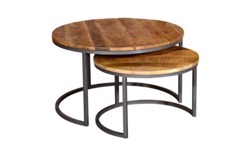 Savannah Round Coffee Table - Set of Two