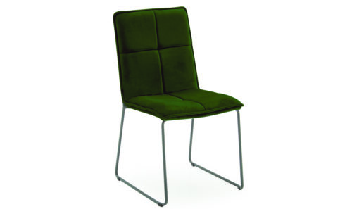 Soren Dining Chair Green - Angle