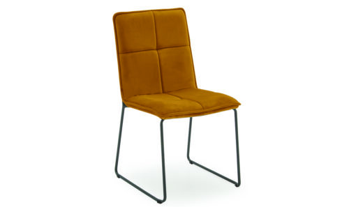 Soren Dining Chair Mustard - Angle
