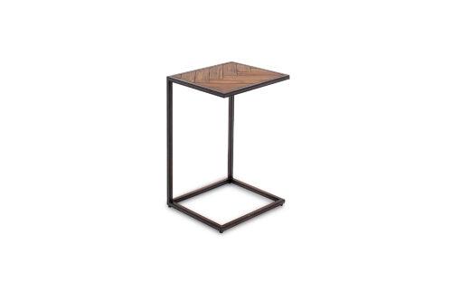 Vanya Drinks Table Light Brown Angle
