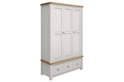 Amberly Wardrobe 3 Drawer Angled