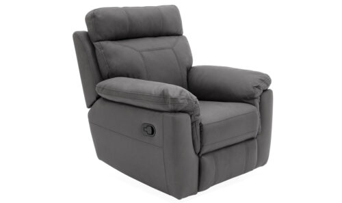 Baxter 1 Seater Recliner Grey - Angle