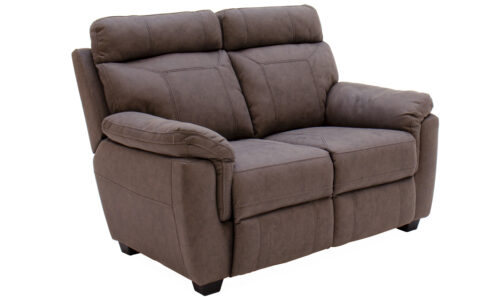 Baxter 2 Seater Fixed Brown - Angle
