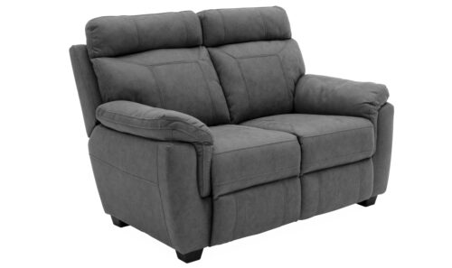 Baxter 2 Seater Fixed Grey - Angle