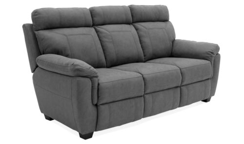 Baxter 3 Seater Fixed Grey - Angle