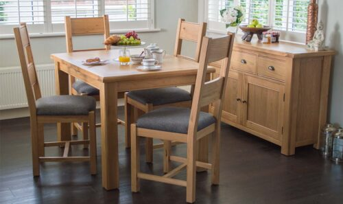 Breeze grey dining chair