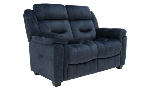 Dudley 2 Seater Blue Angled