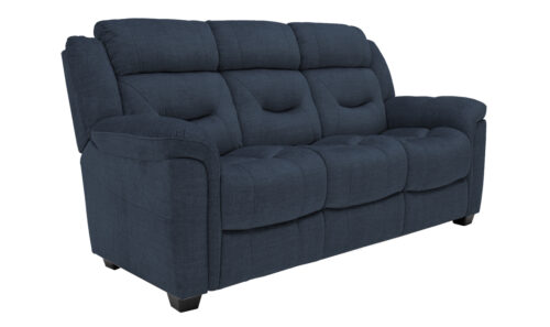 Dudley 3 Seater Blue Angled