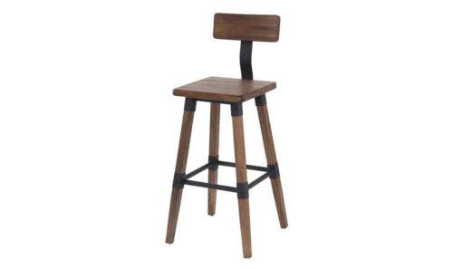 Hunter Rustic Elm Bar Chair Angled (1)