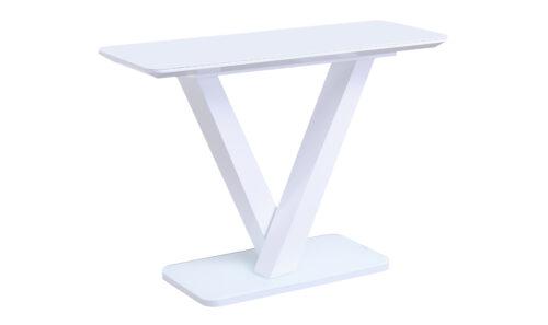 Rafael Console Table White Angled