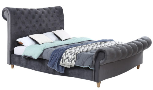Sloane Bed Angle - 5' Grey