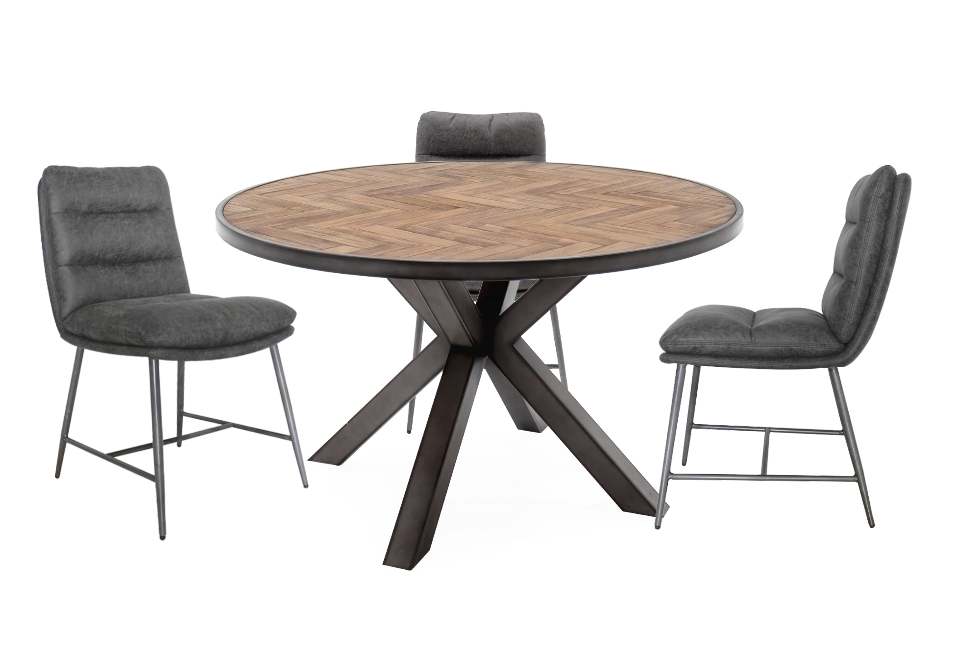Vanya Round Dining Table with Romy Chairs
