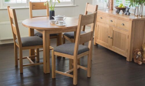 breeze round extending dining table fabric